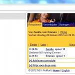 Chrome extensie: NS Reisplanner Lite